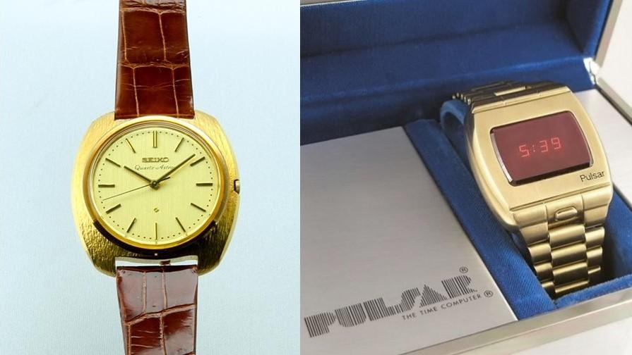 First quartz watches