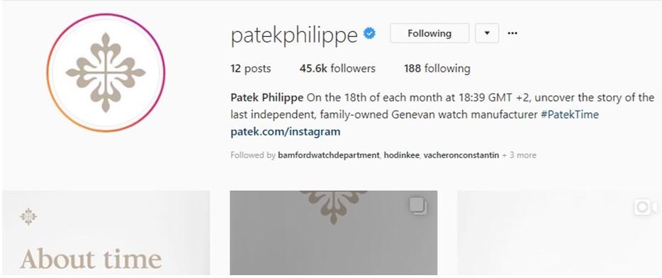 Patek Philippe Instagram