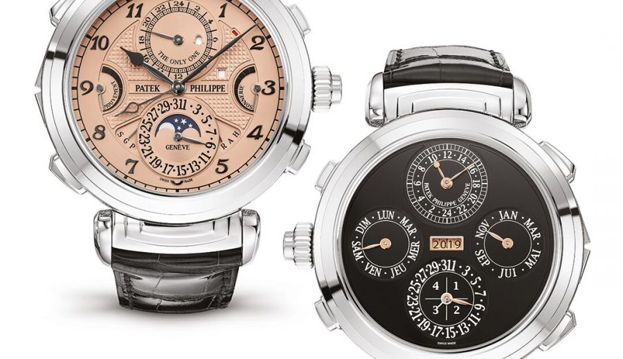 The two face dials of the $31 Million Patek Philippe For Only Watch 2019