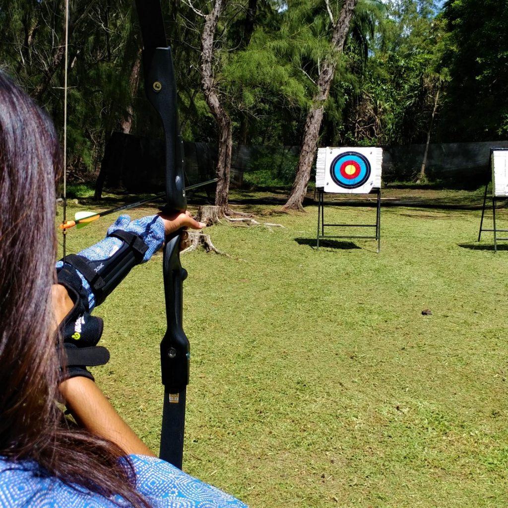 Archery in Mauritius Andrea lodge