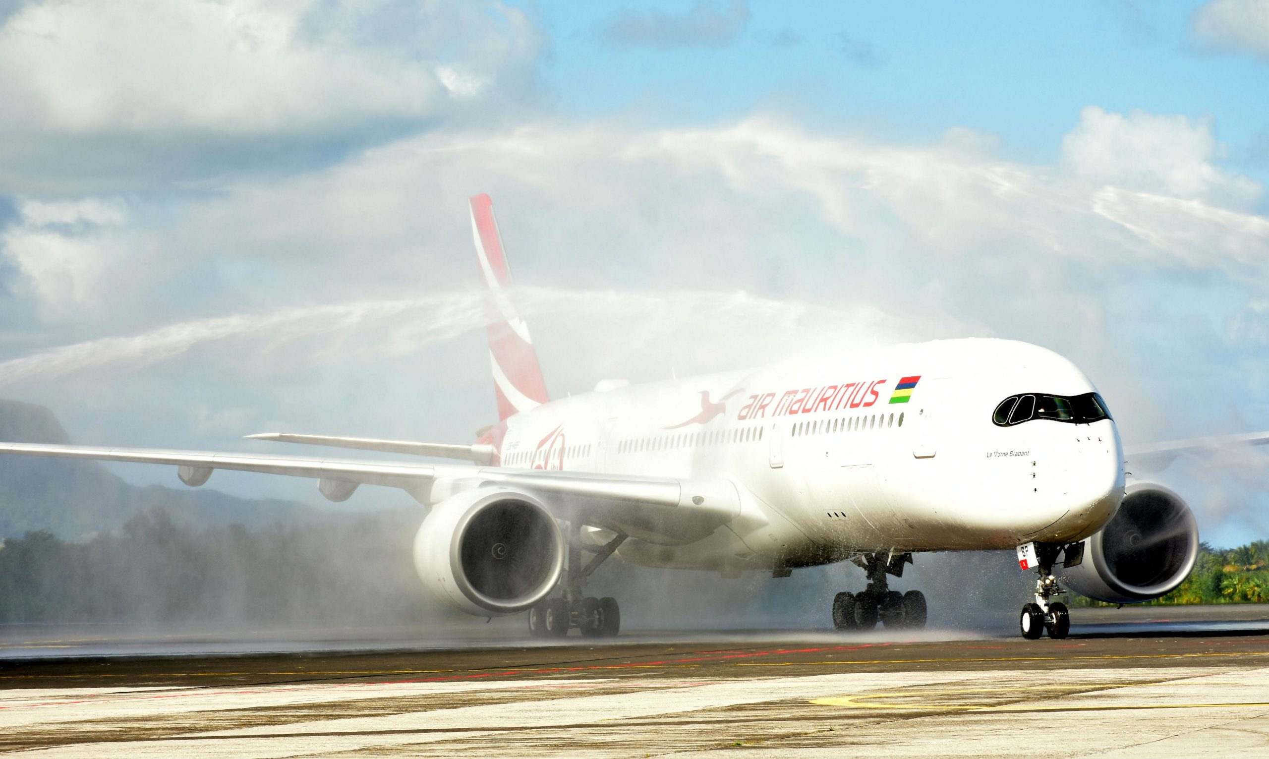 AIr Mauritius first A350 delivery