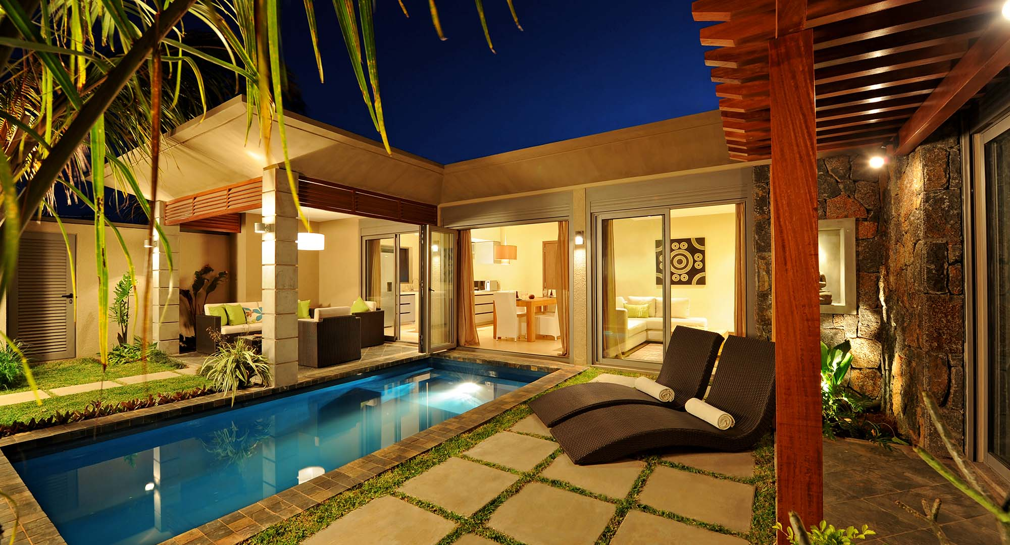 Athena Villa night outdoor